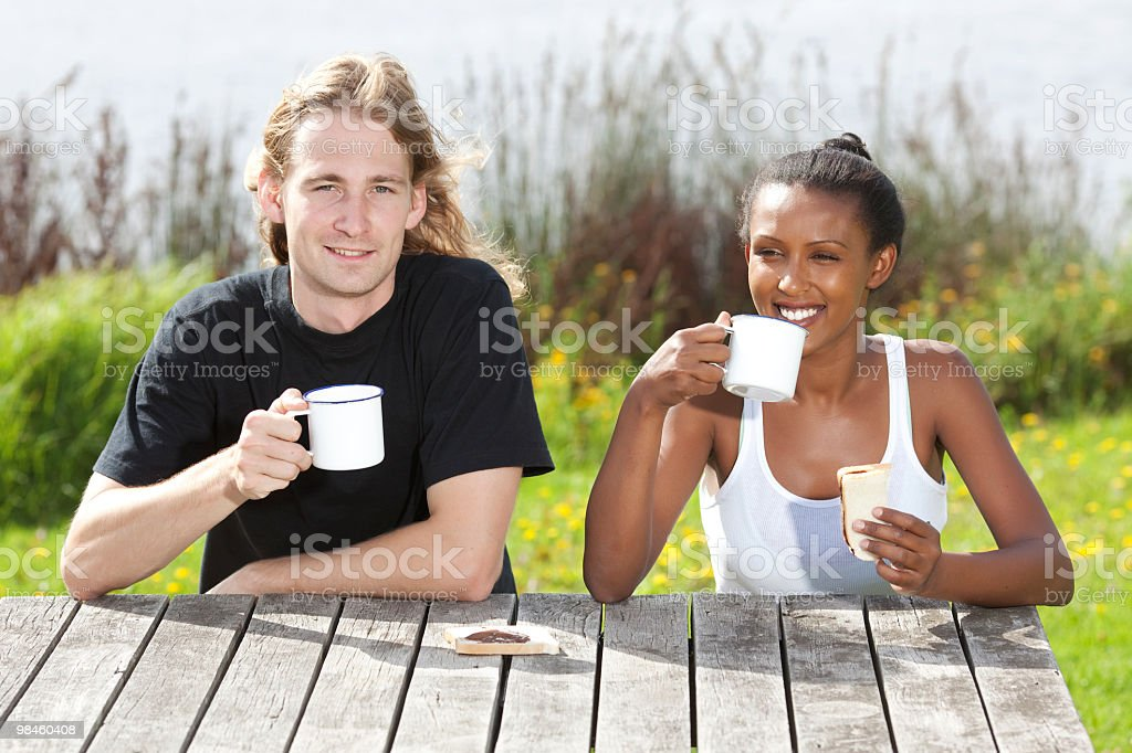 Breakfast in the village. royalty-free stock photo