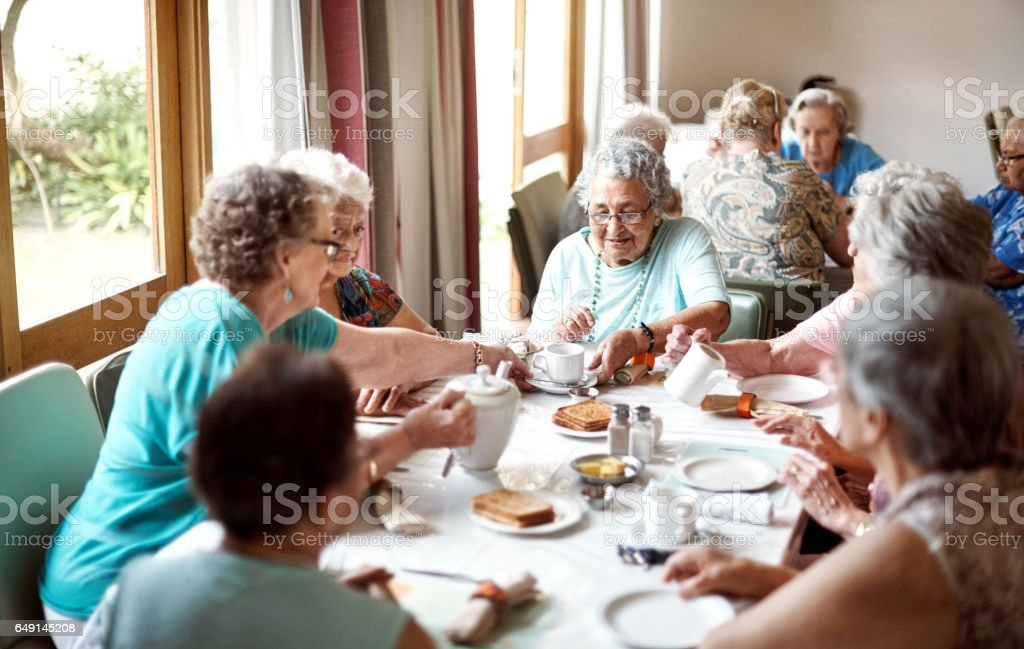 Breakfast is their favourite meal of the day stock photo