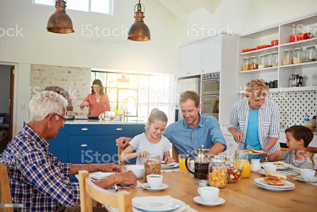 아침 식사는 하루가 되 면 royalty-free 스톡 사진