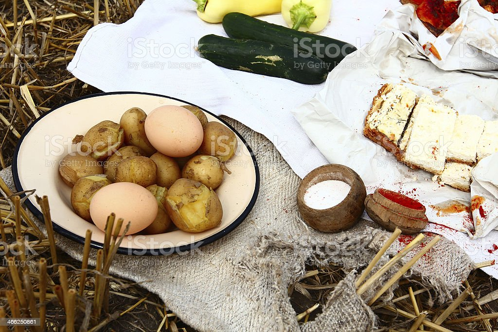 Breakfast like in old times royalty-free stock photo
