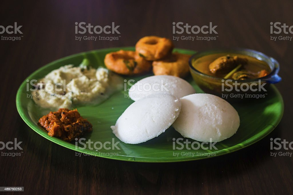 Breakfast menu for special occassions in south india - Royalty-free Breakfast Stock Photo