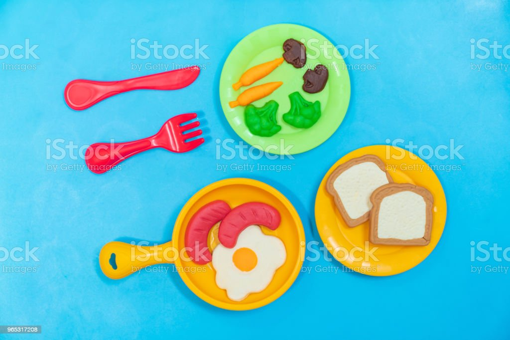 Breakfast model. royalty-free stock photo