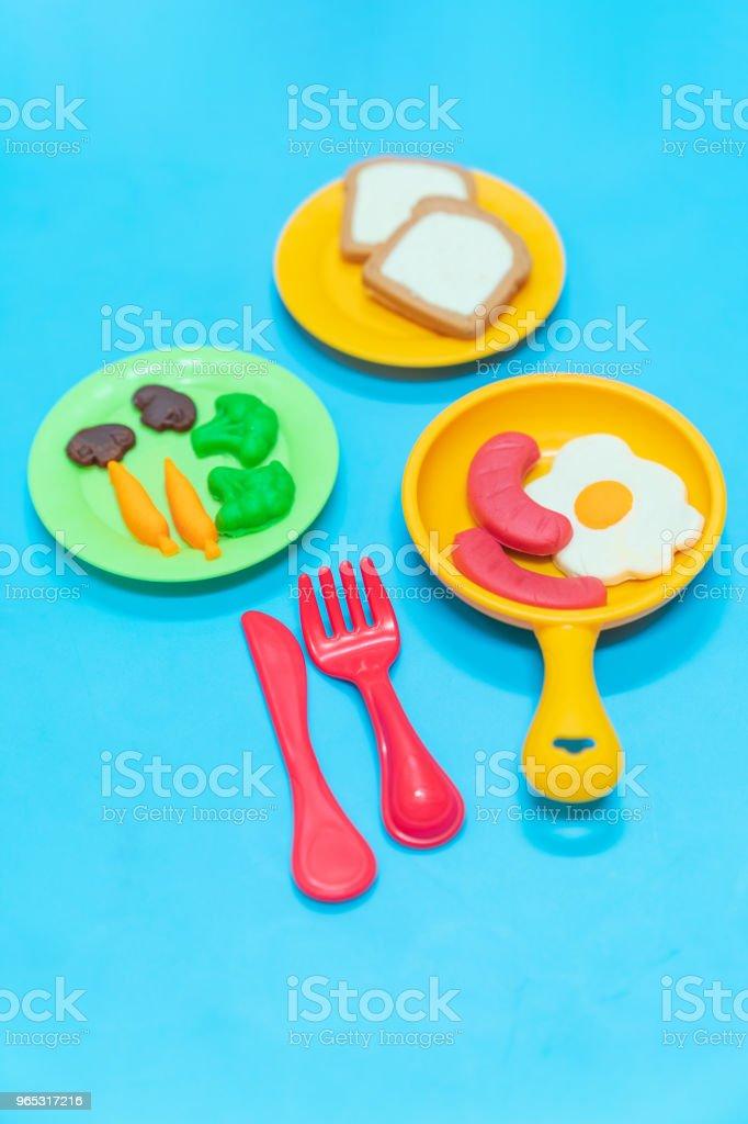 Breakfast model. zbiór zdjęć royalty-free