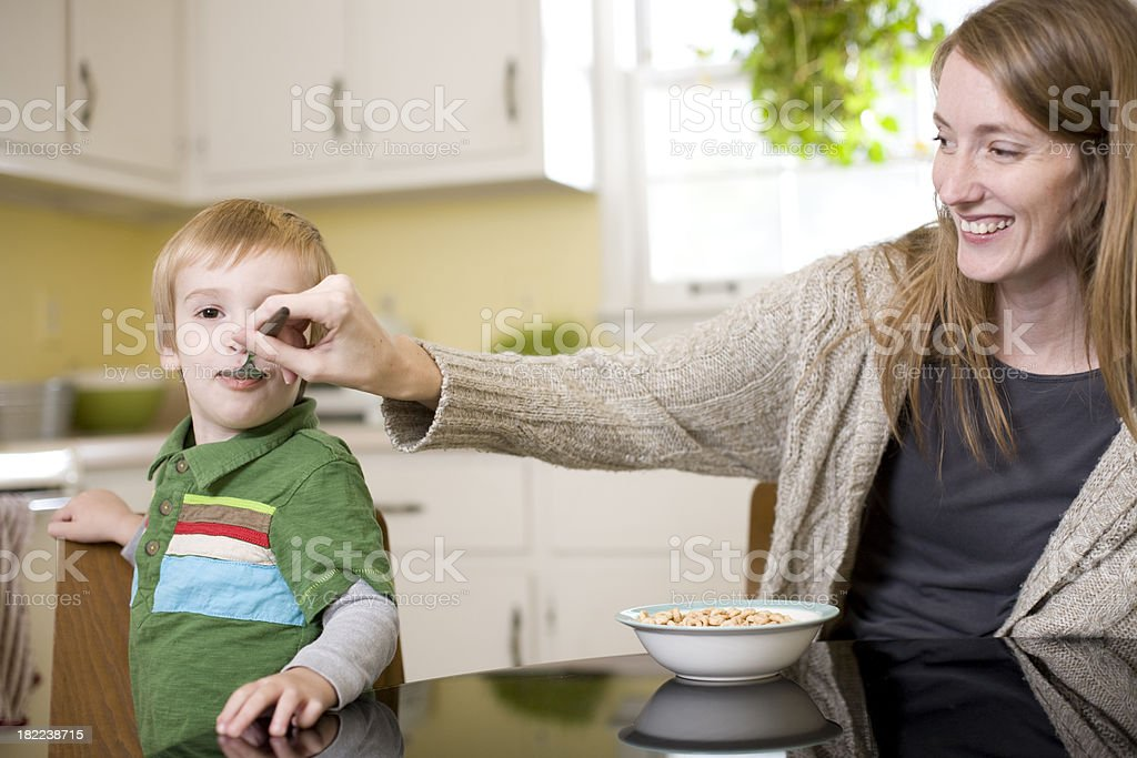 Breakfast Mother and Child royalty-free stock photo