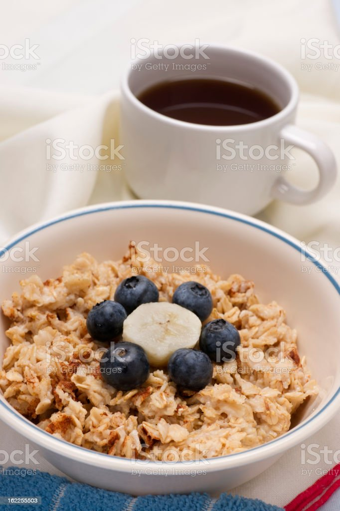 Breakfast Oatmeal with Fruit royalty-free stock photo