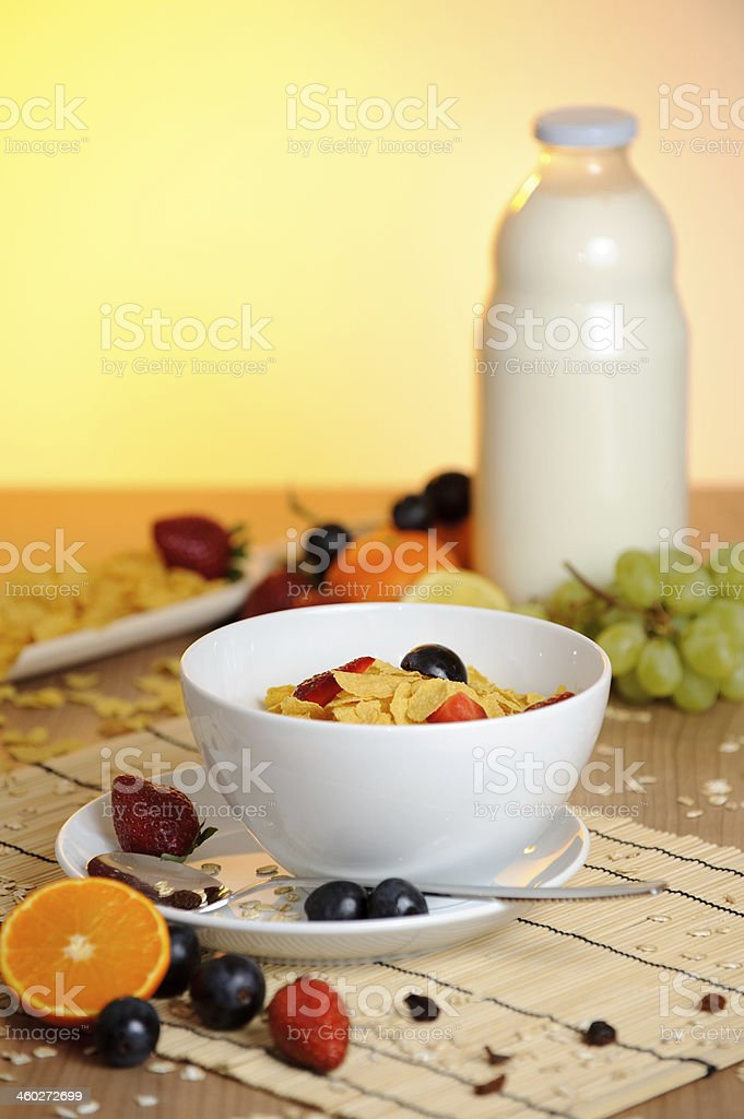 Breakfast of champions stock photo