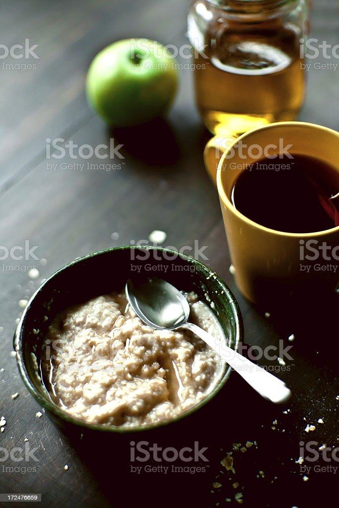 Breakfast on a rainy day royalty-free stock photo