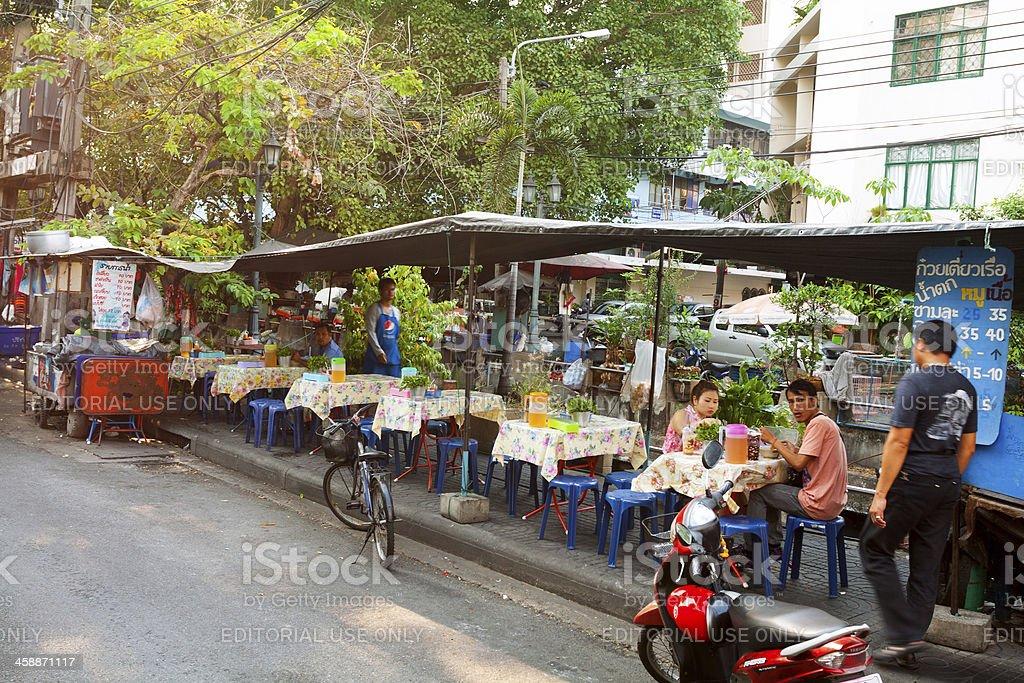 Breakfast on street royalty-free stock photo