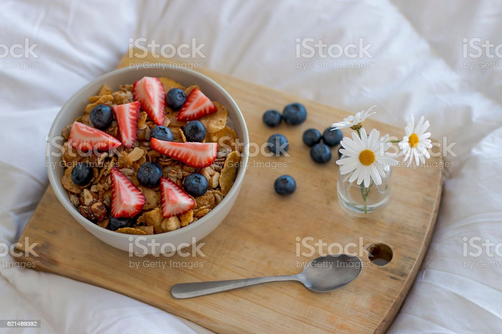 Frühstück im Bett  Lizenzfreies stock-foto