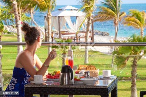 Breakfast at the Beach in Caribbean Luxury Resort