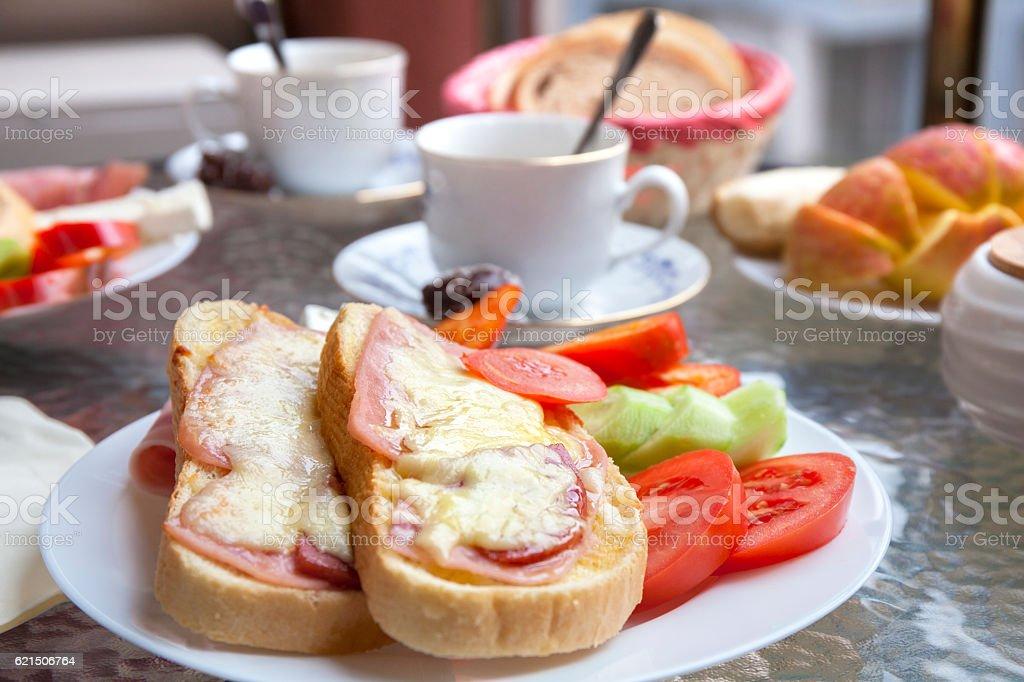Breakfast on the Terrace photo libre de droits