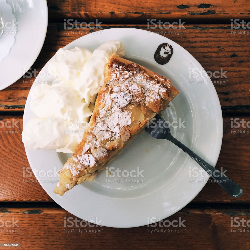 Breakfast on wooden table stock photo