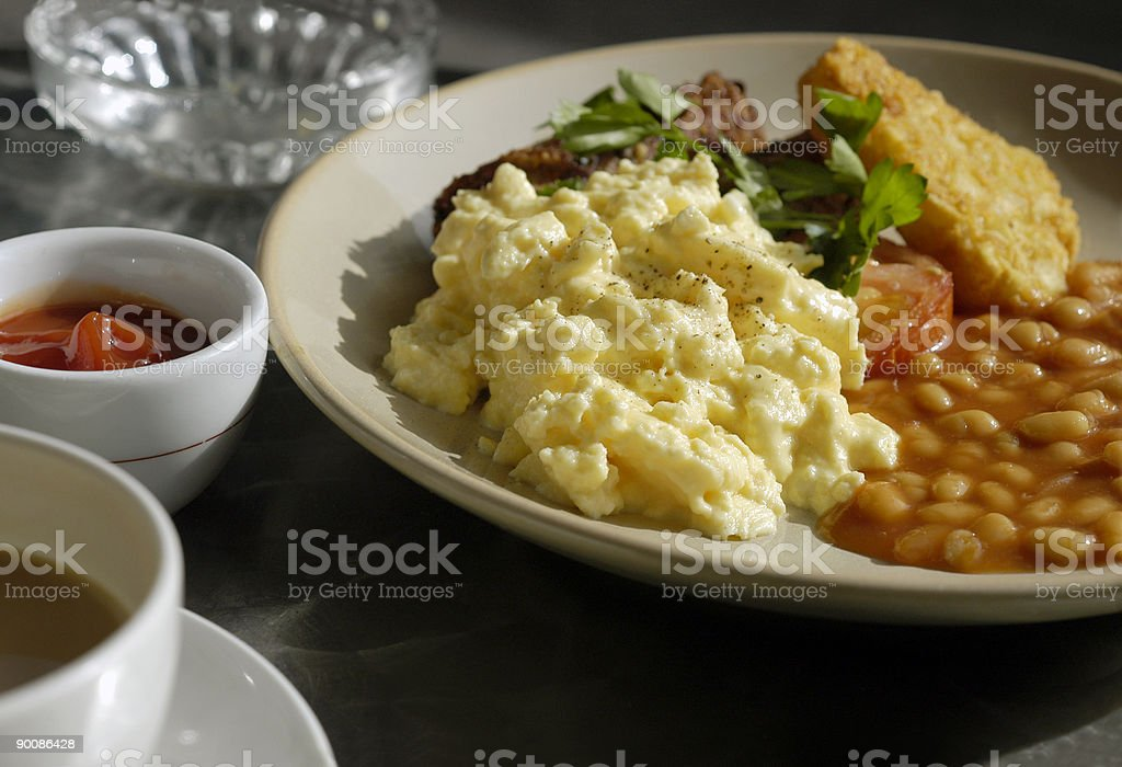 Breakfast outdoor cafe royalty-free stock photo