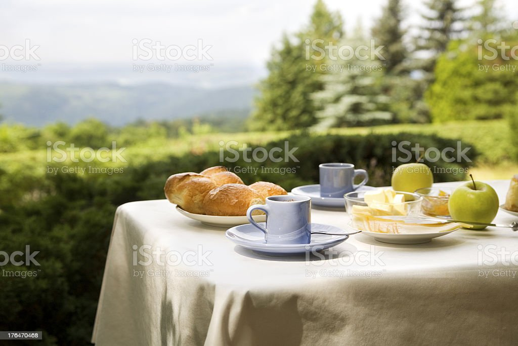 Breakfast Outside royalty-free stock photo