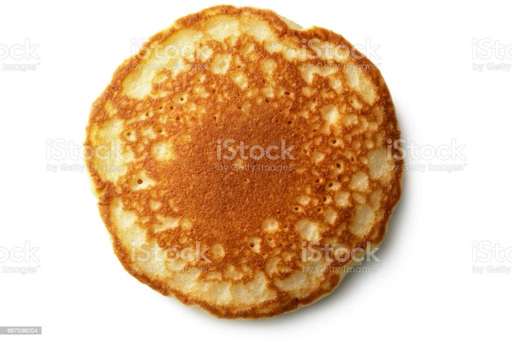 Breakfast: Pancake Isolated on White  Background stock photo