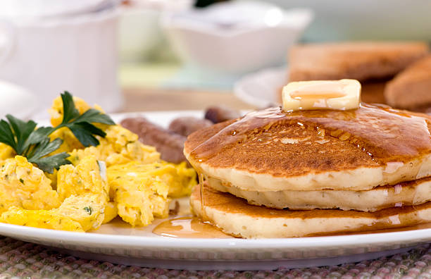 Breakfast Pancakes stock photo