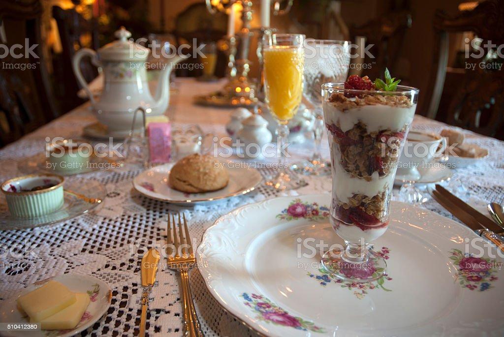 Breakfast Parfait stock photo