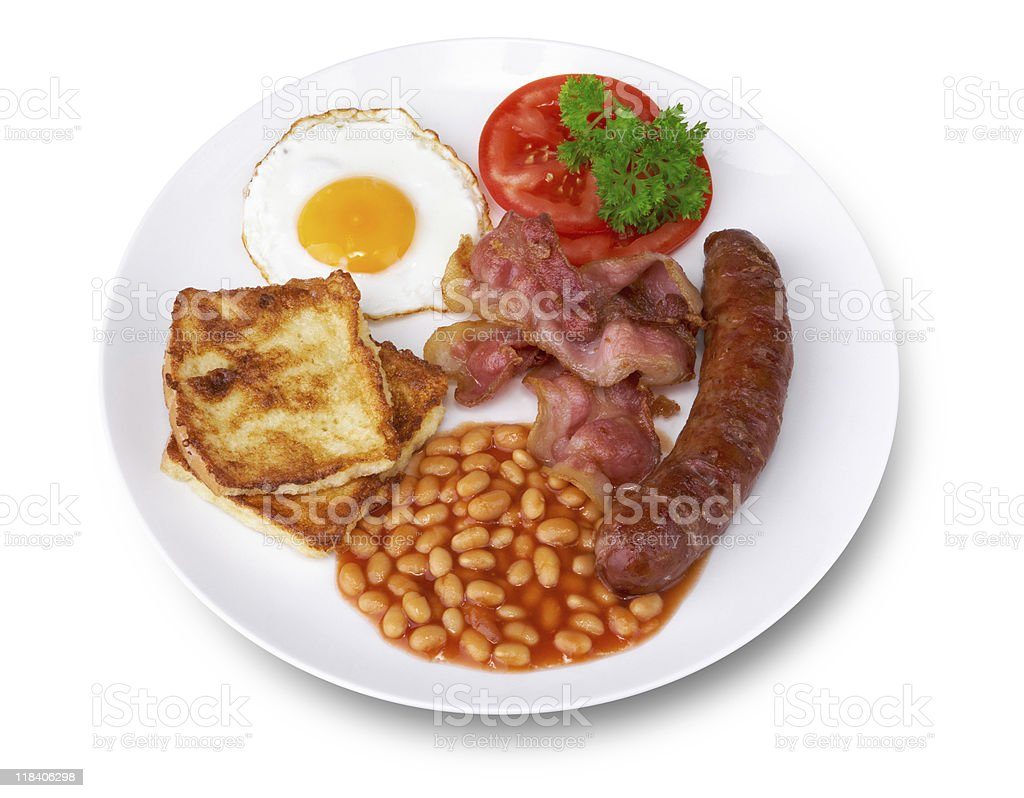 Breakfast (clipping path) stock photo
