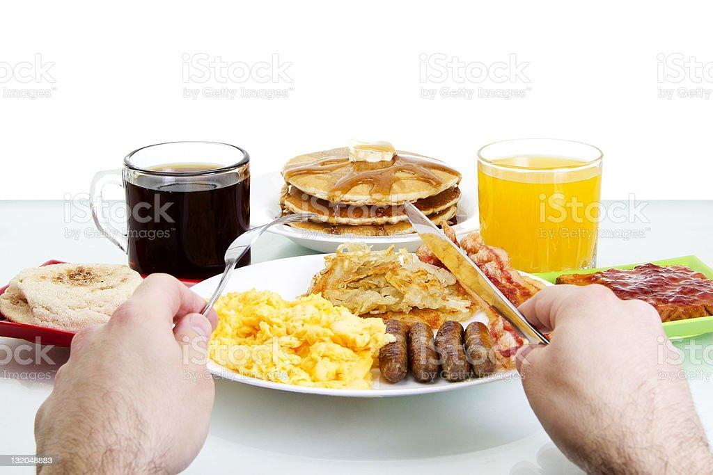 Breakfast POV stock photo
