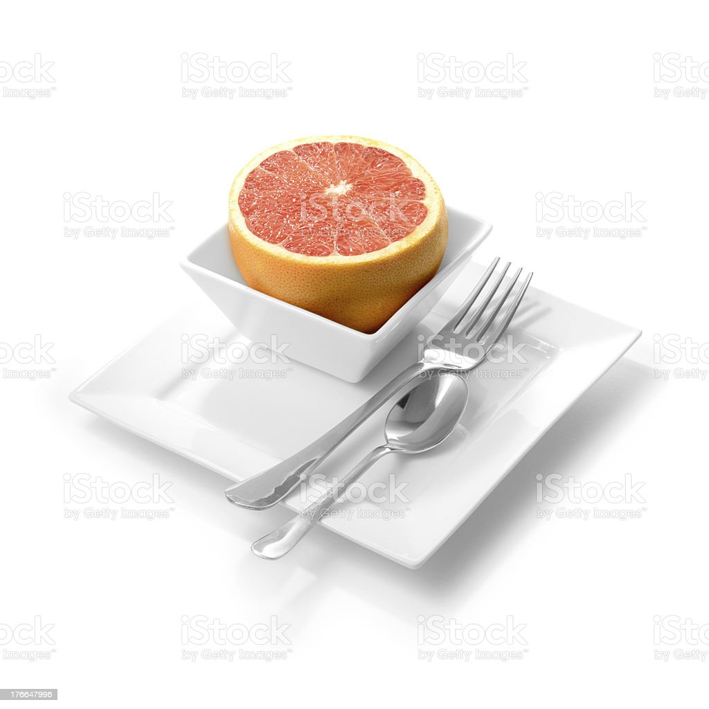 Breakfast Red Grapefruit royalty-free stock photo