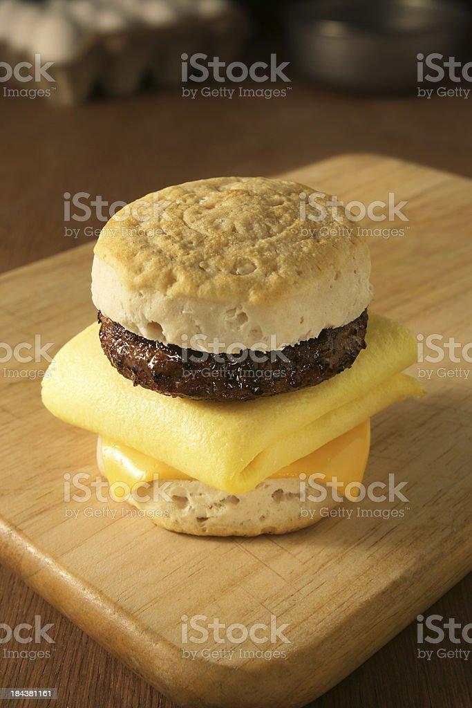 Breakfast Sandwich Lizenzfreies stock-foto