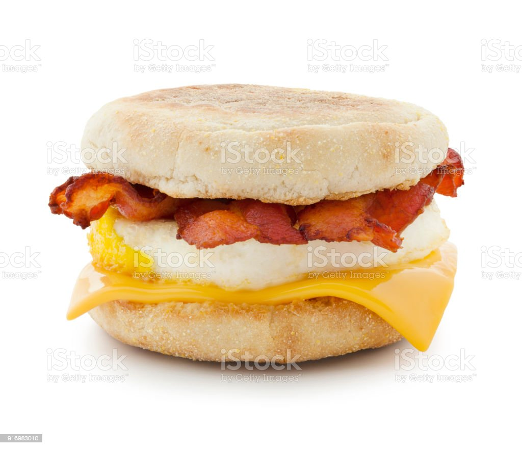 Breakfast Sandwich (with path) stock photo