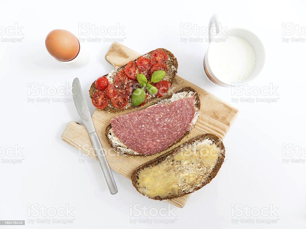 Breakfast sandwiches royalty-free stock photo