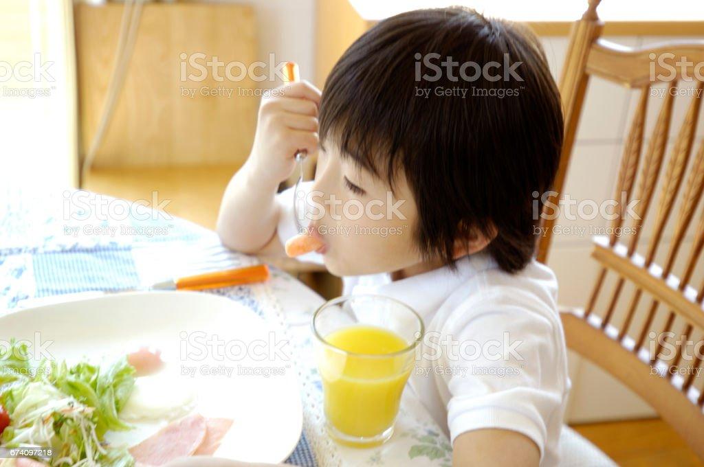 Breakfast scene royalty-free stock photo