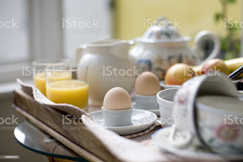 Breakfast served at an english B&B stock photo