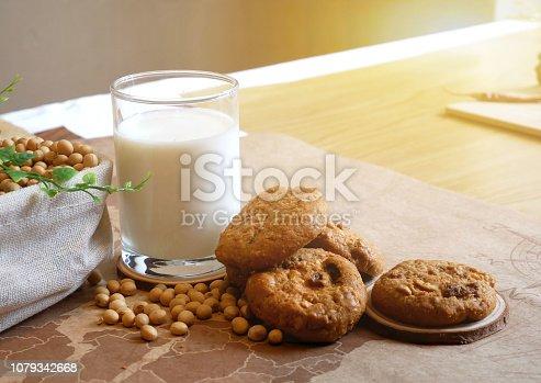 istock Breakfast soy milk 1079342668
