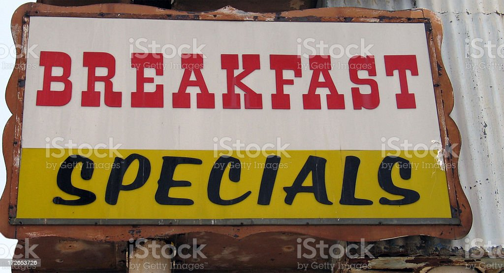 Breakfast Specials royalty-free stock photo
