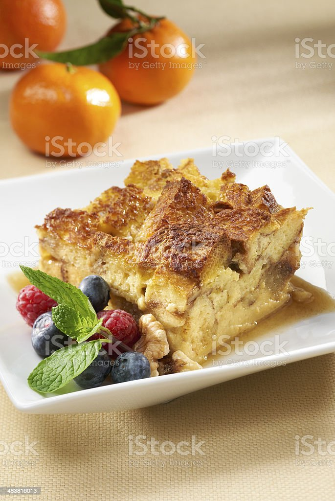Breakfast Strata, Casserole or Souffle stock photo