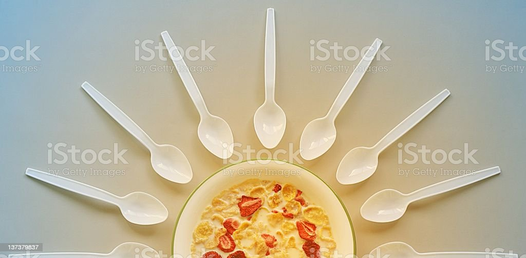 Breakfast - Sunrise royalty-free stock photo