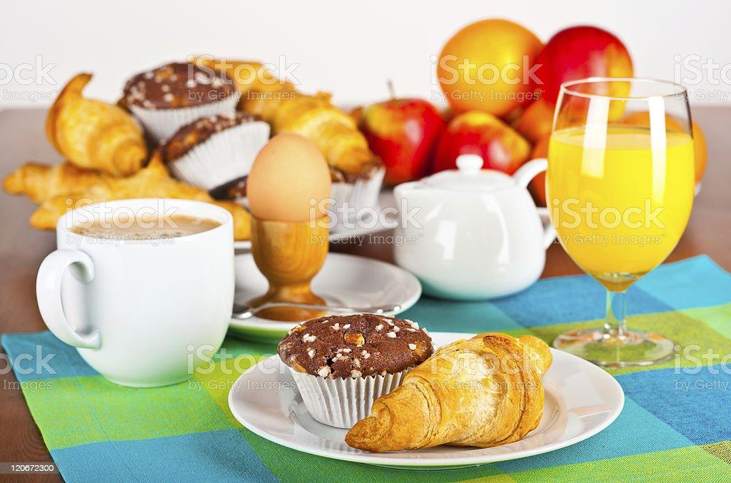 Breakfast table royalty-free stock photo