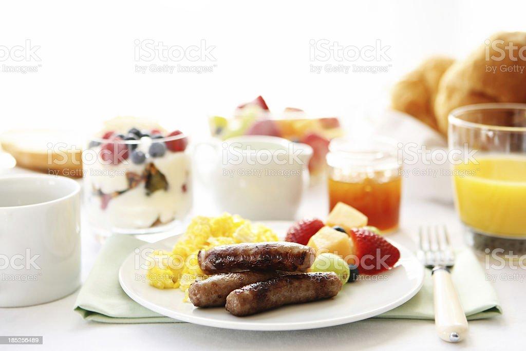 breakfast table stock photo