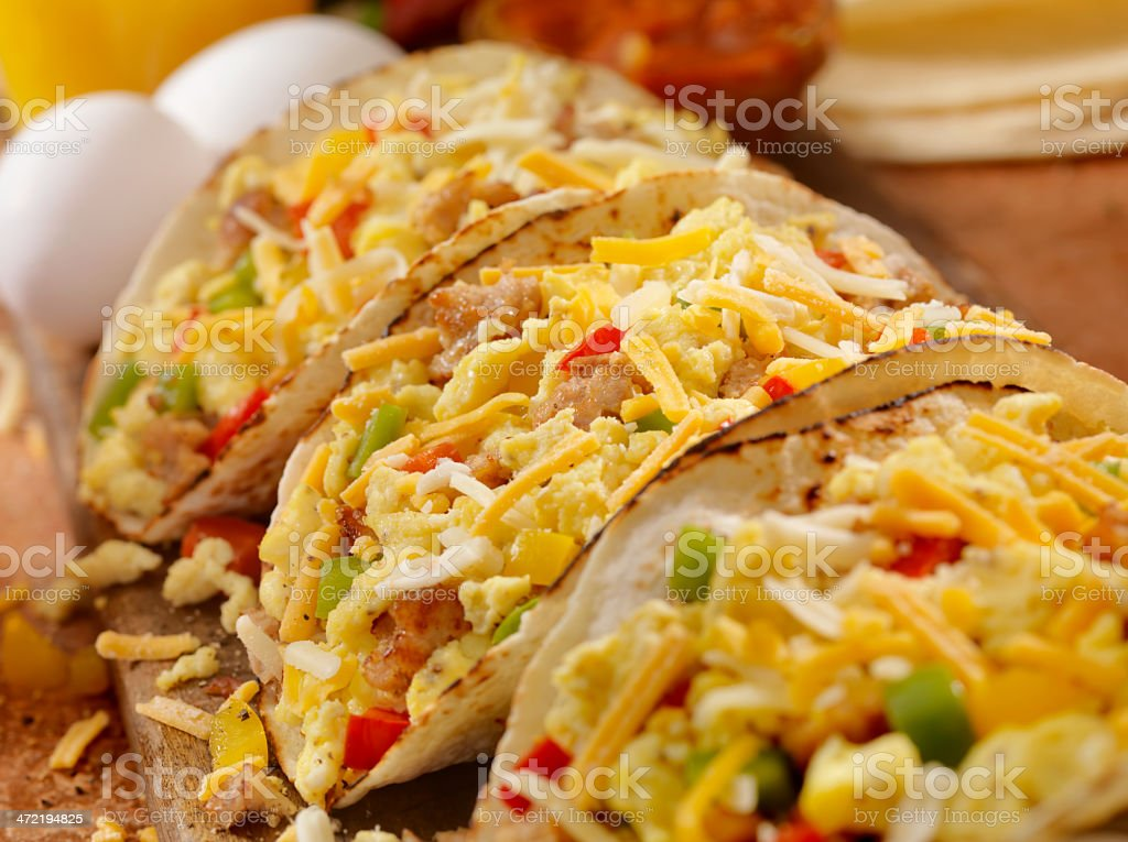 Breakfast Taco stock photo