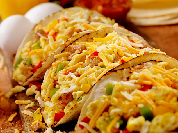 Breakfast Taco stock photo