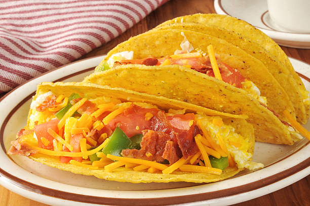 Breakfast tacos stock photo