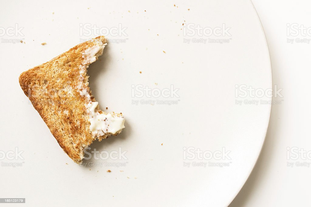 Breakfast toast stock photo