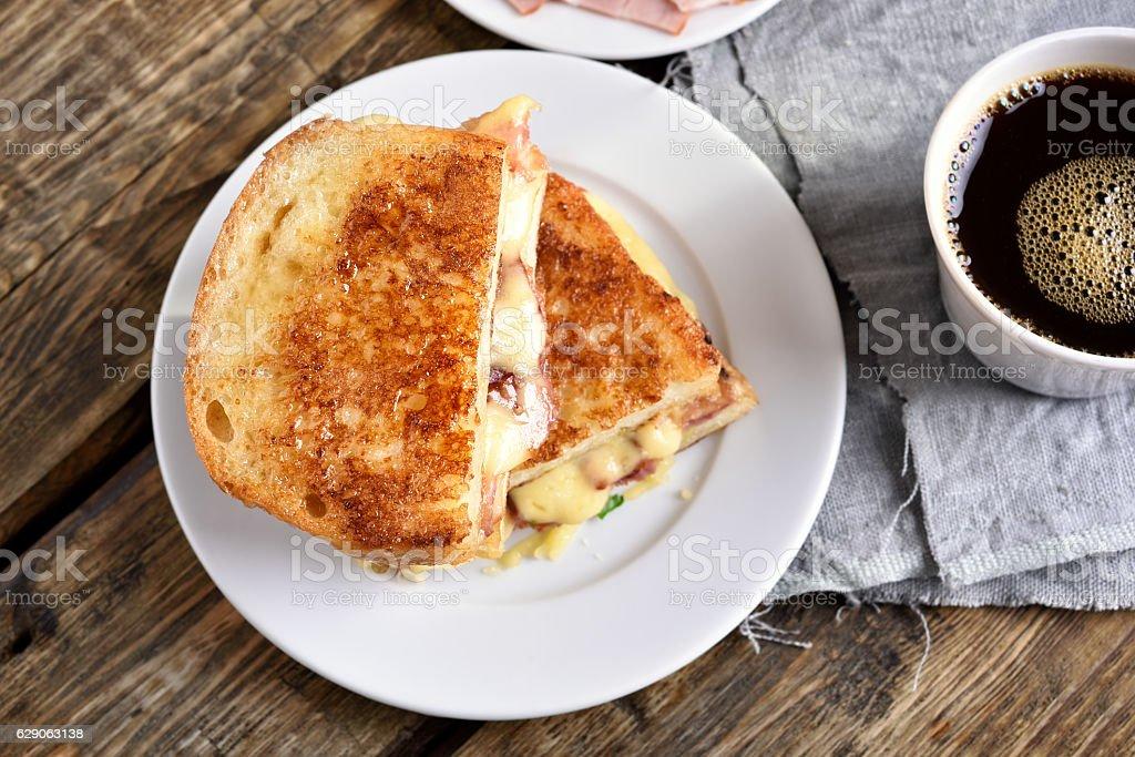 Breakfast toast sandwich