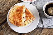 Breakfast toast sandwich