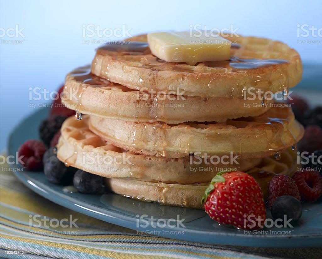 Breakfast Waffles stock photo