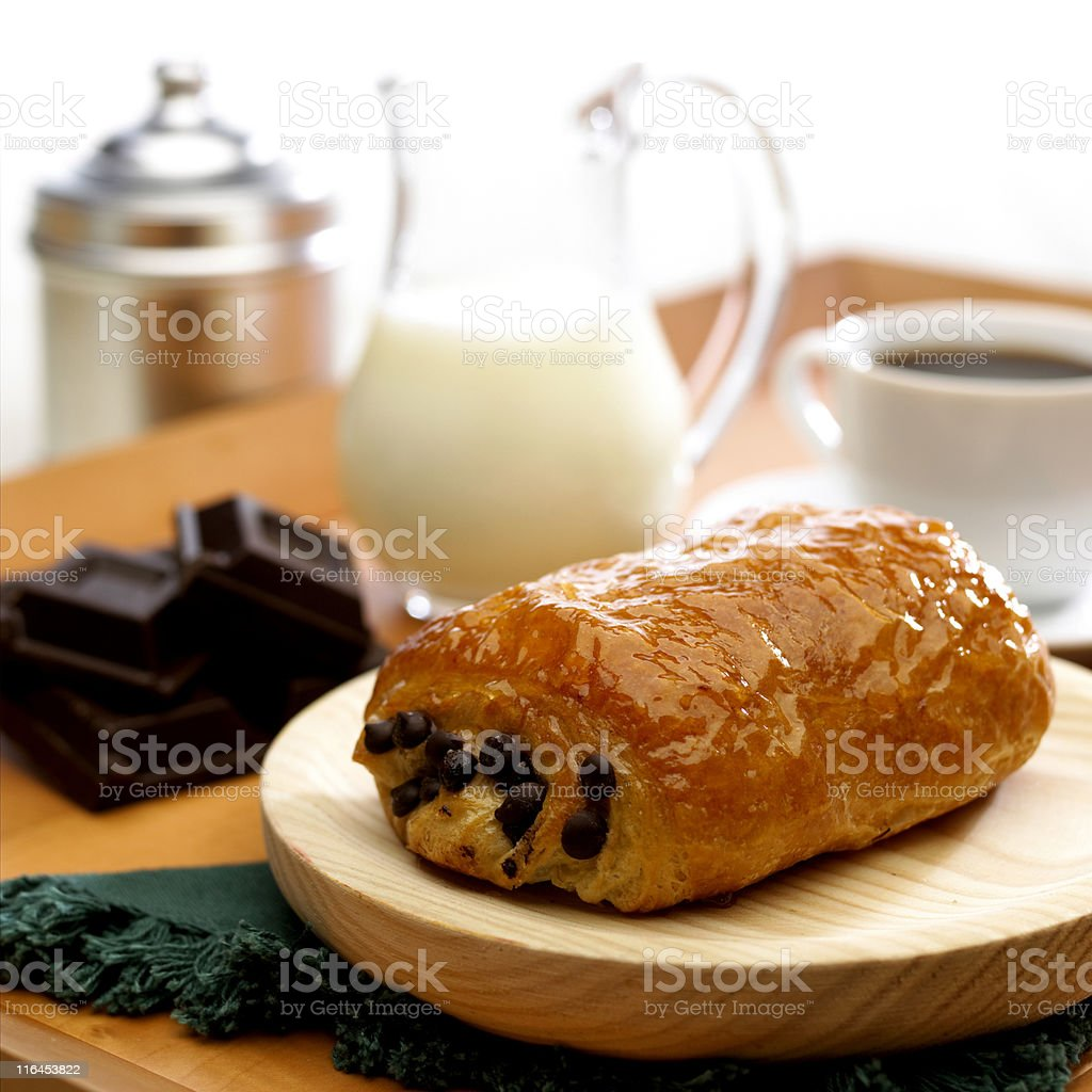 breakfast with chocolate royalty-free stock photo