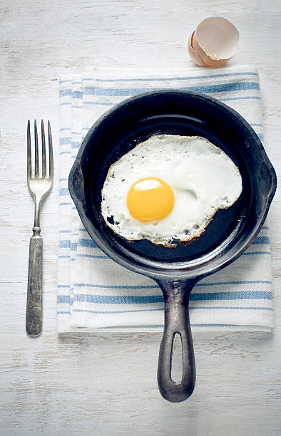 breakfast with egg - fried egg stock photos and pictures