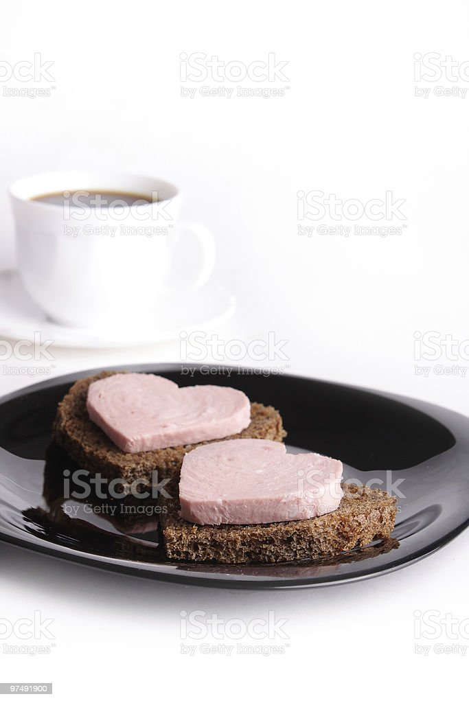Breakfast with love royalty-free stock photo