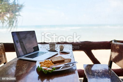 istock Breakfast with the best view 641943886