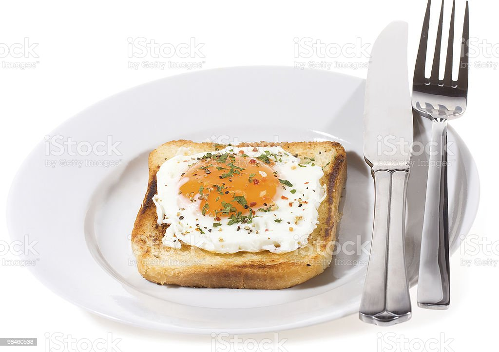 Breakfast with toast royalty-free stock photo