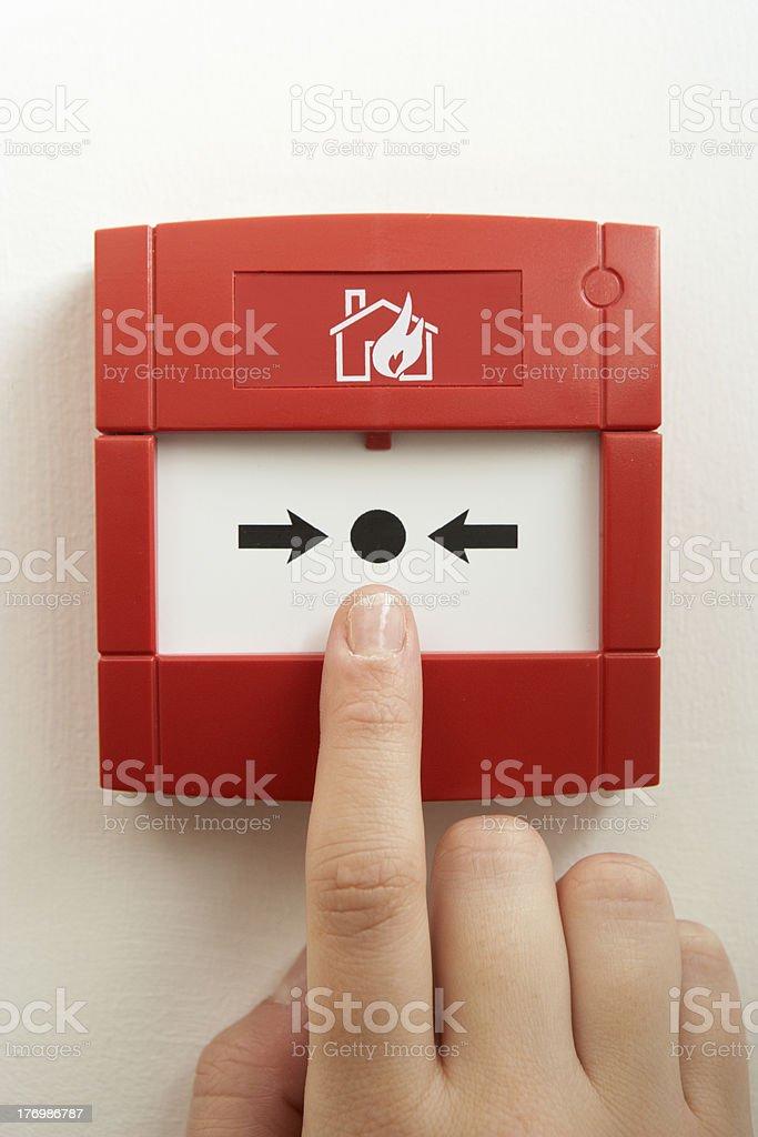 Break-glass fire alarm stock photo