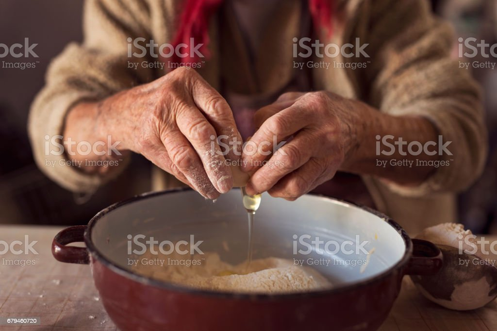 Breaking an egg royalty-free stock photo