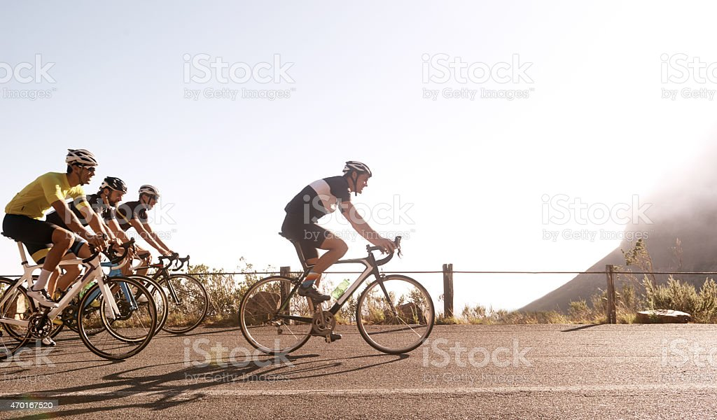 Breaking away from the pack stock photo